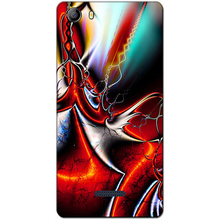 Cell First Designer Back Cover For Micromax Canvas 5 E481-Multi Color sncf-3d-Canvas5E481-107