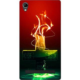 Cell First Designer Back Cover For Intex Aqua Power Plus-Multi Color sncf-3d-AquaPowerPlus-529