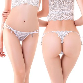 07f15f89e1fdac Ladies-Hot-Sexy-Lace-Knickers-Panties-Lingerie-Briefs-Thongs G-Strings WHITE
