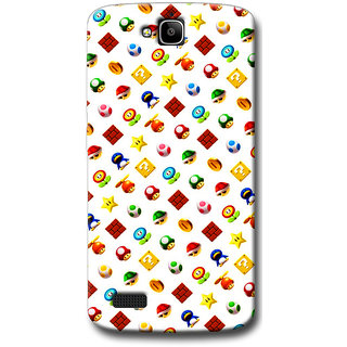 Cell First Designer Back Cover For Huawei Honor Holly-Multi Color sncf-3d-HonorHolly-499