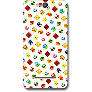 Cell First Designer Back Cover For Micomax Canvas Juice 3 Q392-Multi Color sncf-3d-Juice3Q392-499