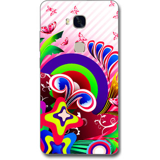 Cell First Designer Back Cover For Huawei Honor 5X-Multi Color sncf-3d-Honor5X-539