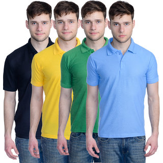 Superjoy Mens Polo T-Shirt Pack of 4