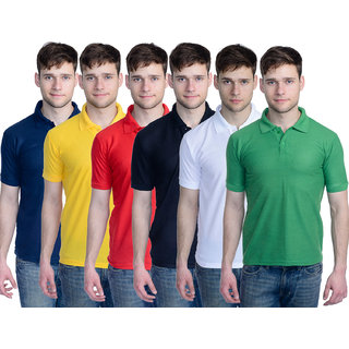 Superjoy Mens Polo T-Shirt Pack of 6