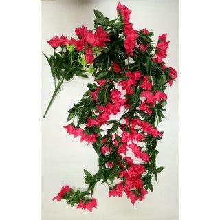 Sn Flower Artificial Flower 4839 Falling Bunch Dark Pink