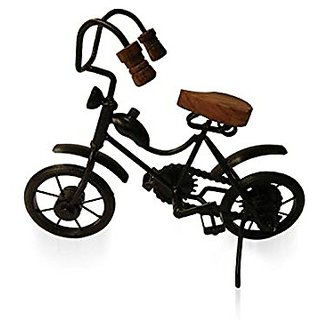 Desi Karigar Wooden  Iron Motor Cycle Antique Home Decor Product