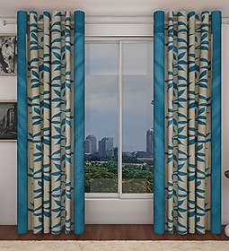 R Trendz Printed Window Curtain Set Of 2