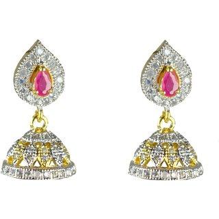 JOY DURGA IMITATION JEWELLERIS AMERICAN DIAMOND, BRASS,  DECOROUS  JHUMKI