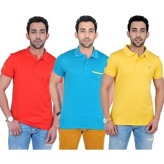 Fabnavitas Mens Cotton Polo T-shirt Pack of 3
