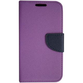 Colorcase Wallet Flip Cover Case for Vivo Y11 - Purple