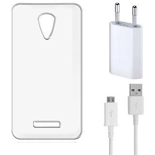 Soft Transparent Back Cover for Huawei Honor 5X with USB Travel Charger