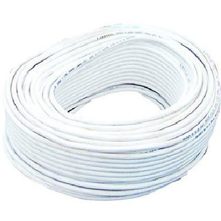 Cable PVC 0.5 sq/mm White 90 m Wire(White)