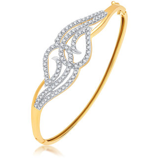 Sukkhi Glimmery Gold Plated CZ Kada For Women
