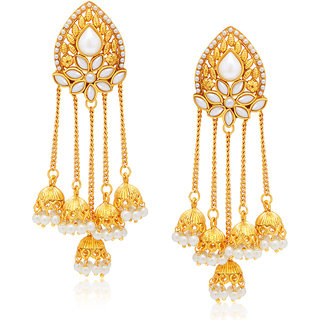 Sukkhi Gold Plated Alloy Dangle Earrings For Women