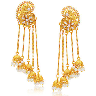 Meia Gold Plated Gold Alloy Dangle Earrings for Women