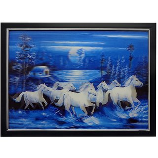 Buy Fengshui Seven Horse 3d Painting With Framing Online Get 0 Off