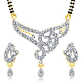 Sukkhi Artistically Gold Plated CZ Mangalsutra Set For Women