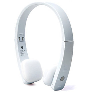 Oricore H610 Bluetooth V2.1+EDR Wireless Foldable Stereo Headset for 6 Plus 6 and Other Devices with BT WHITE