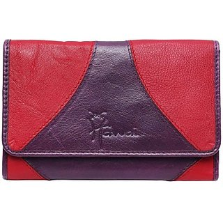 Hawai Women Casual And Formal Multicolor Genuine Leather Wallet (8 Card Slots)