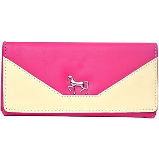 Hawai Women Pink Artificial Leather Wallet (5 Card Slots)
