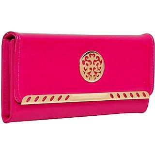 Hawai Women Pink Artificial Leather Wallet (8 Card Slots)