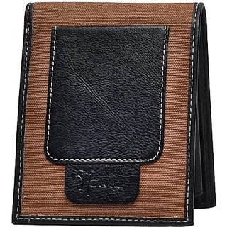 Hawai Men And Women Formal Brown Genuine Leather Wallet (6 Card Slots)