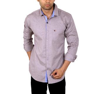 Studio Nexx Mens Silver Solid Casual Shirt