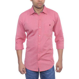 Studio Nexx Mens Pink Cotton Casual Shirt