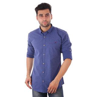 Studio Nexx Mens Dark Blue Cotton Casual Shirt