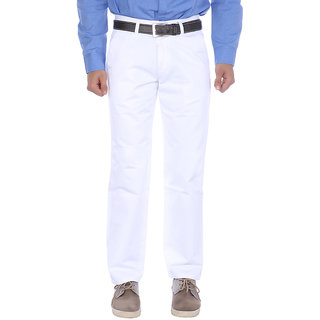 Studio Nexx Mens White cotton chinos trouser