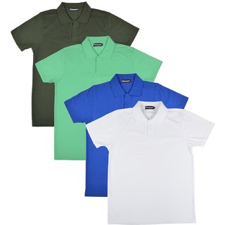 Pintapple MenS Casual Polo Neck T-Shirt Pack Of 4