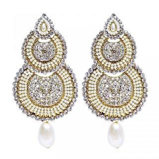 White Designer Partywear Earring