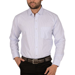 Studio Nexx Mens Checkered Cotton Formal Shirt