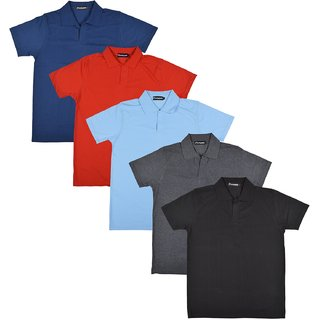 Pintapple MenS Casual Polo Neck T-Shirt Pack Of 5