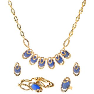 Ruhaani Jewels Alloy Jewel Set (Blue)