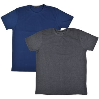 Pintapple MenS Casual Round Neck T-Shirt Pack Of 2
