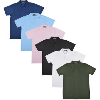 Pintapple MenS Casual Polo Neck T-Shirt Pack Of 6