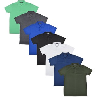 Pintapple MenS Casual Polo Neck T-Shirt Pack Of 7
