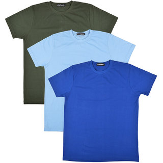 Pintapple MenS Casual Round Neck T-Shirt Pack Of 3