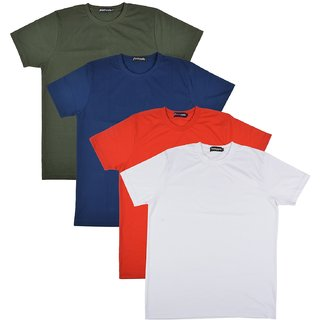 Pintapple MenS Casual Round Neck T-Shirt Pack Of 4