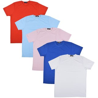 Pintapple MenS Casual Round Neck T-Shirt Pack Of 5
