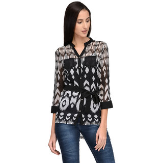 Tunic Nation Womens Printed V-Neck Top
