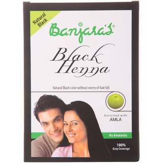 Banjaras Black Henna+Amla Natural Black 50G (5 Sachets Inside)