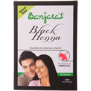 Banjaras Black Henna+Hibiscus Natural Black 50G (5 Sachets Inside)