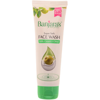Banjaras Milk Cream+Olive Face Wash 50Ml