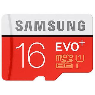 Samsung 16 GB EVO+ Class 10 MicroSDHC 80mb/s With Adaptor
