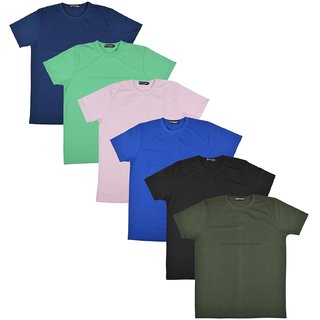 Pintapple MenS Casual Round Neck T-Shirt Pack Of 6