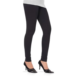 Womens Churidar Leggings In Black