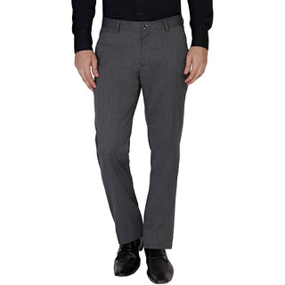 Live In Grey PlainRegular Fit Chinos For Men