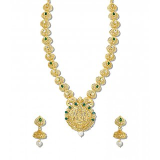 Buy zaveri pearls south style traditional temple jewellery necklace zaveri pearls south style traditional temple jewellery necklace set zpfk5181 aloadofball Choice Image